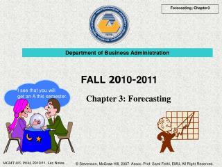 Chapter 3:  Forecasting