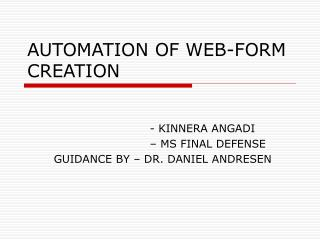 AUTOMATION OF WEB-FORM CREATION