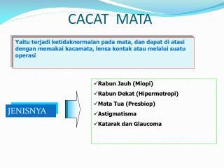 CACAT  MATA