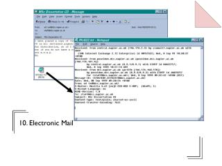 10. Electronic Mail