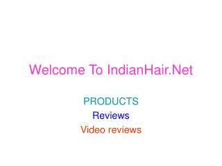 Indian Human Hair,  Indian Hair Accessories - IndianHair.net