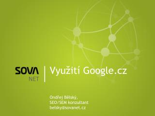 Využití  Google.cz