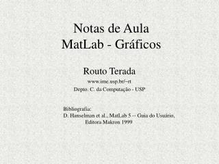 Notas de Aula MatLab - Gráficos