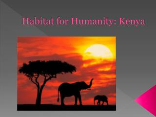 Habitat for Humanity: Kenya