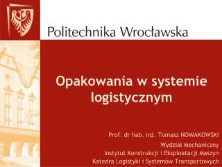 Opakowania w systemie logistycznym