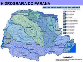 HIDROGRAFIA DO PARAN�