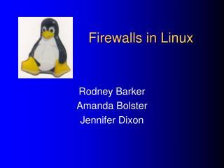 Firewalls in Linux