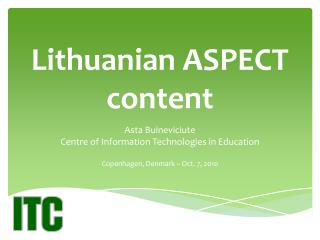 Lithuanian ASPECT content