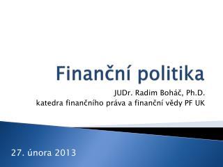 Finanční politika