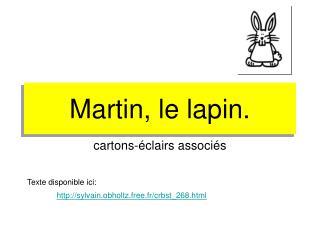 Martin, le lapin.
