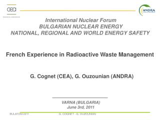 French Experience in Radioactive Waste Management
