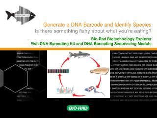 Generate a DNA Barcode and Identify Species Is there something fishy about what you're eating?