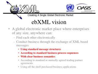 ebXML vision