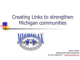 Creating Links to strengthen Michigan communities