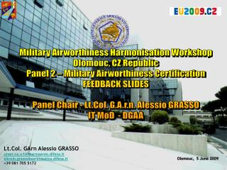 Lt.Col. GArn Alessio GRASSO  utaer.na.u1s0@armaereo.difesa.it
