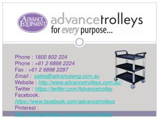 Medical and Hospitality Trolleys in Australia
