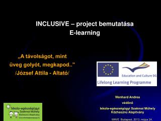 INCLUSIVE – project bemutatása E-learning