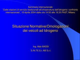 Situazione Normative / Omologazioni dei veicoli ad Idrogeno