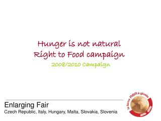 Hunger is not natural Right to Food campaign   2008/2010 Campaign