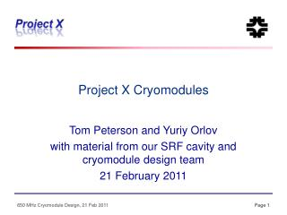 Project X Cryomodules
