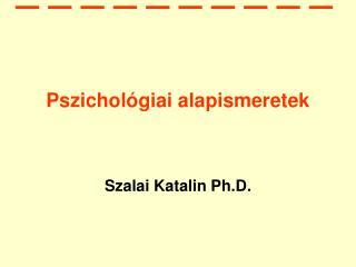 Pszichol�giai alapismeretek