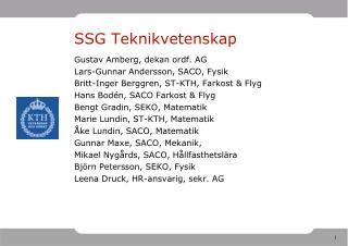 SSG Teknikvetenskap