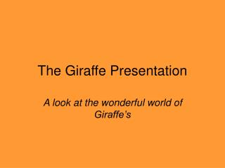 The Giraffe Presentation