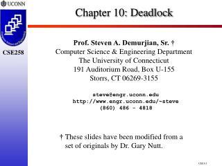 Chapter 10:  Deadlock