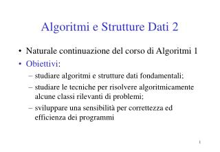 Algoritmi e Strutture Dati 2