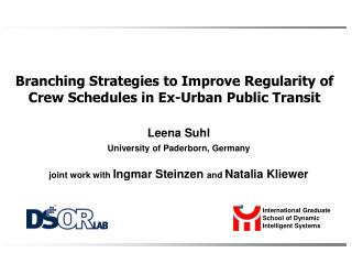 Branching Strategies to Improve Regularity of Crew Schedules in Ex-Urban Public Transit