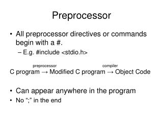 Preprocessor