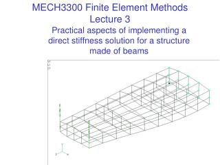 MECH3300 Finite Element Methods Lecture 3