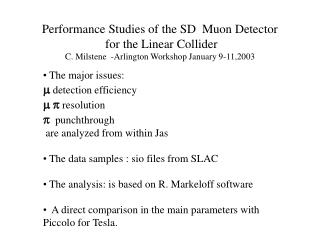 The major issues:  m  detection efficiency  m p  resolution p   punchthrough