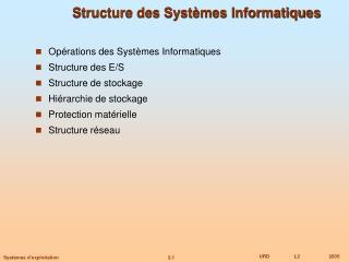 Structure des Syst mes Informatiques
