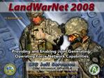 LandWarNet Conference Evolution