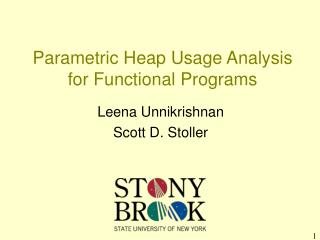 Parametric Heap Usage Analysis for Functional Programs