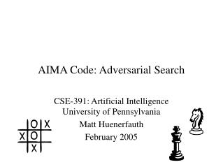 AIMA Code: Adversarial Search