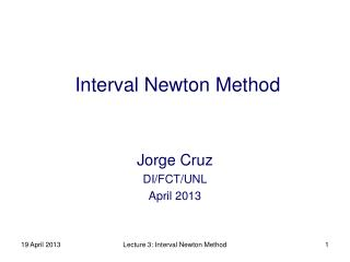 Interval Newton Method