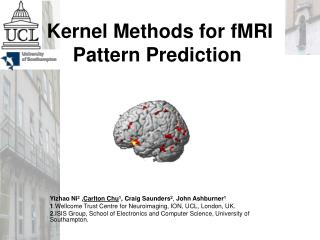 Kernel Methods for fMRI Pattern Prediction