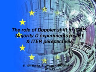 The role of Doppler shift in ICRH: Majority D experiments in JET  & ITER perspectives