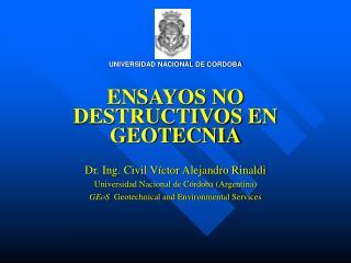 ENSAYOS NO DESTRUCTIVOS EN GEOTECNIA
