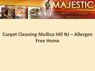 Carpet Cleaning Mullica Hill NJ– Allergen free home