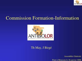 Commission Formation-Information