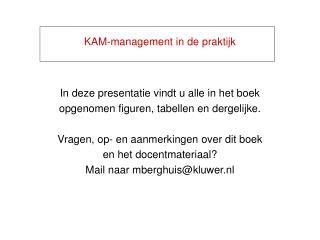 KAM-management in de praktijk