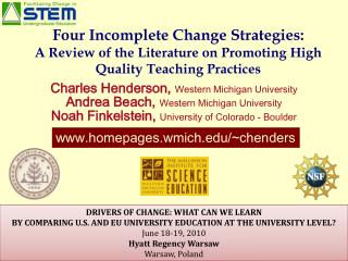 Charles  Henderson,  Western Michigan University Andrea Beach,  Western Michigan University