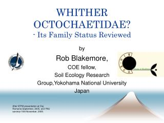WHITHER OCTOCHAETIDAE? - Its Family Status Reviewed