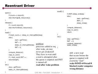 Reentrant Driver