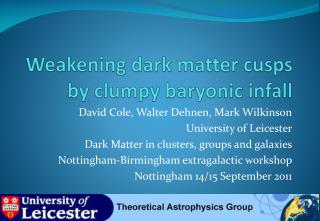 Weakening dark matter cusps by clumpy baryonic  infall