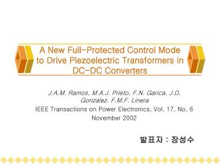 A New Full-Protected Control Mode to Drive Piezoelectric Transformers in DC-DC Converters