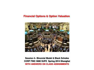Financial Options & Option Valuation